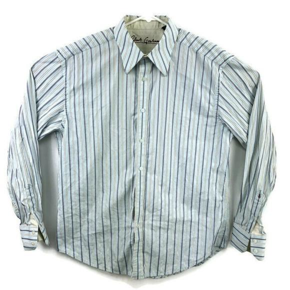 Robert Graham X Mens Button Down Luxury Shirt Size Large Flip Cuffs Salmon Color